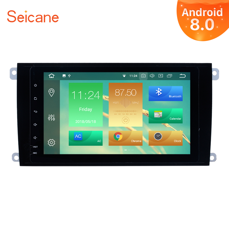 Seicane Car Radio 2Din Android 8.0 8 inch GPS Navi System For 2003 2011 Porsche cayenne Multimedia Player Support 3G/4G&WiFi