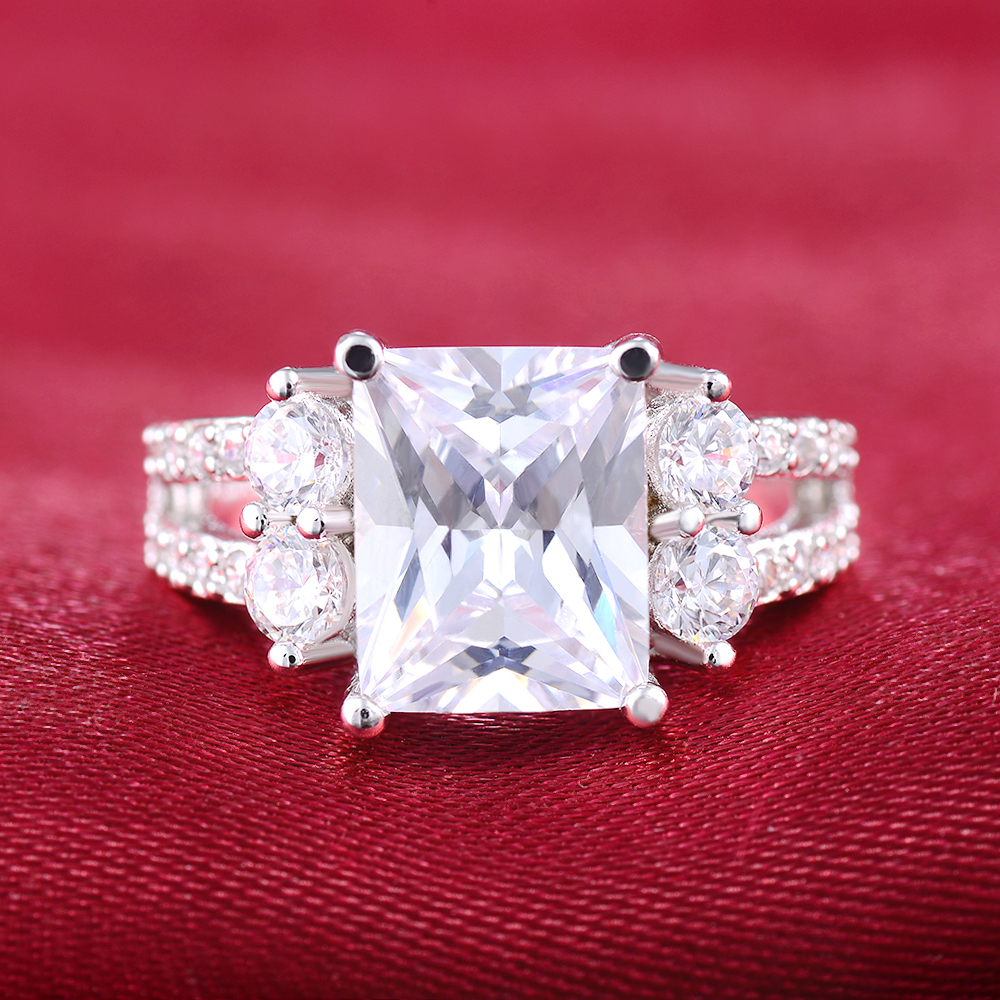 White gold color vintage rings For Women CZ stone jewelry vintage ...