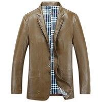 Italian Fashion Men S Suit Leather Jackets Autumn Spring Soft Faux Leather Dress Suit Leather Overcoats