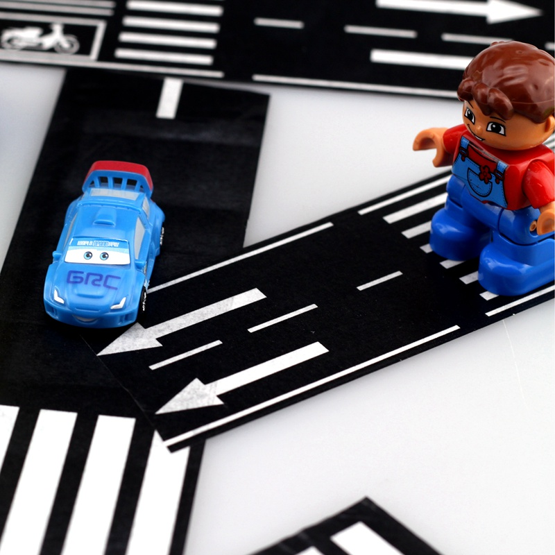 Toy Road Tape Railway Motorway Adhesive Room Floor Stickers Roll DIY Toy Educational Toys for Children Boys Girls Kids Play Car