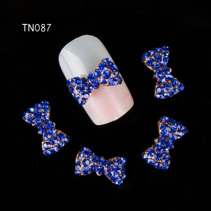 Beauty & Health Sporting Blueness 10pcs Golden Bow Nail Rhinestones 3d Alloy Nail Art Decoration Charms Metal Diy Studs Nails Jewelry Supplies Tn622 Quality First