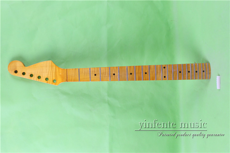 "Здесь можно купить   0024# 25.5"" yellow   Electric guitar neck   flame   maple    made Bolt on maple    fingerboard fine quality  22  fret Спорт и развлечения"