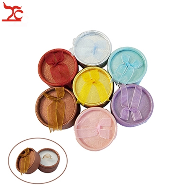 30Pcs Cute Round Paper Gift Box Jewelry Packaging Ring Box Earring