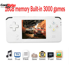 2018 Portable Video Handheld Game Console Retro 64 Bit 3 Inch 3000 Video Game Retro Handheld Console to TV RS-97 RETRO-GANE
