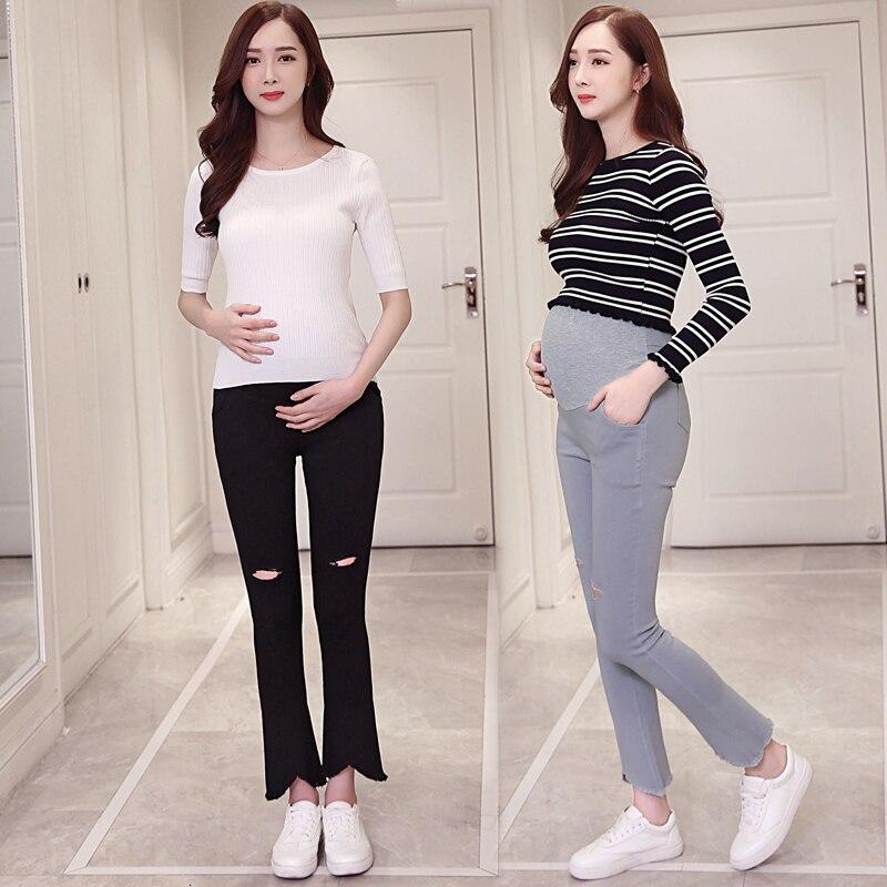 Pregnant women summer thin section pants pants wear Haren Tuo pants chiffon casual pants nine pants summer