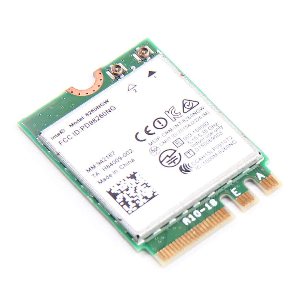 Dual Band Kablosuz-ac 8260 NGFF 802.11ac intel 8260NGW Wifi Kartı 867 Mbps 2.4G/5 GHz 802.11a /b/g/n/ac Bluetooth 4.2 Anten Ile