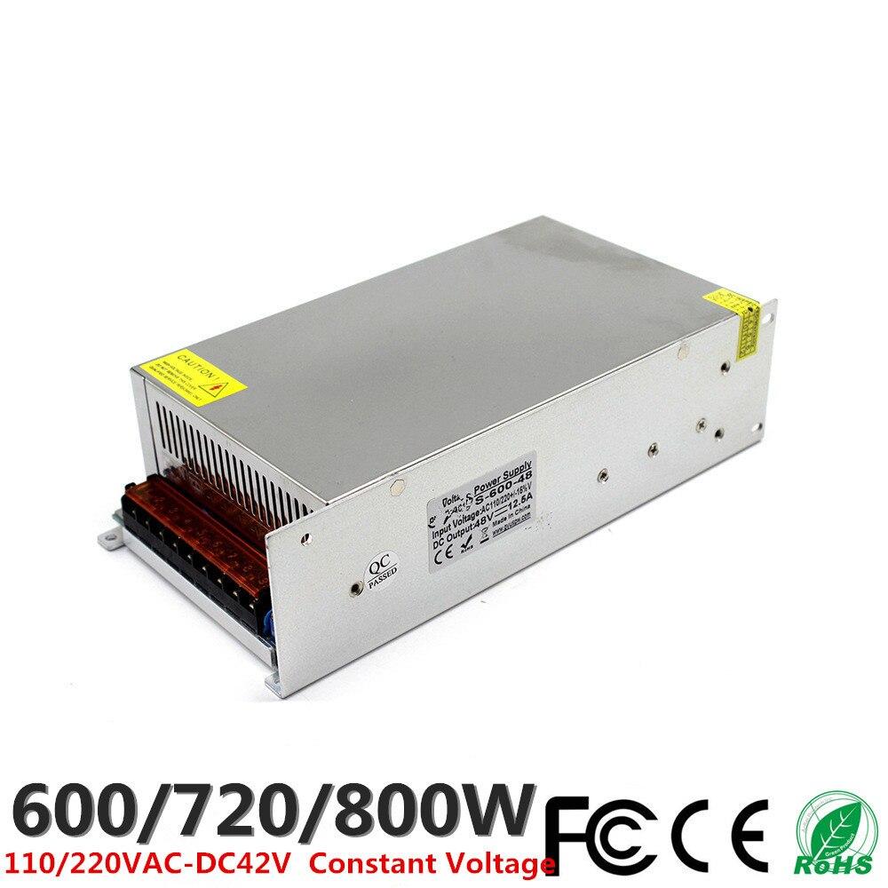 DC 18 V 33A 600 W 40A 720 W 44.4A 800 W LED alimentation à découpage 110 V 220 V AC-DC transformateur de tension constante CCTV CNC