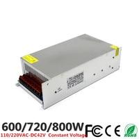 DC 42V 14.3A 600W 17.2A 720W 19A 800W LED Driver Switching Power Supply 110V 220V AC DC Constant Voltage Transformer CCTV CNC