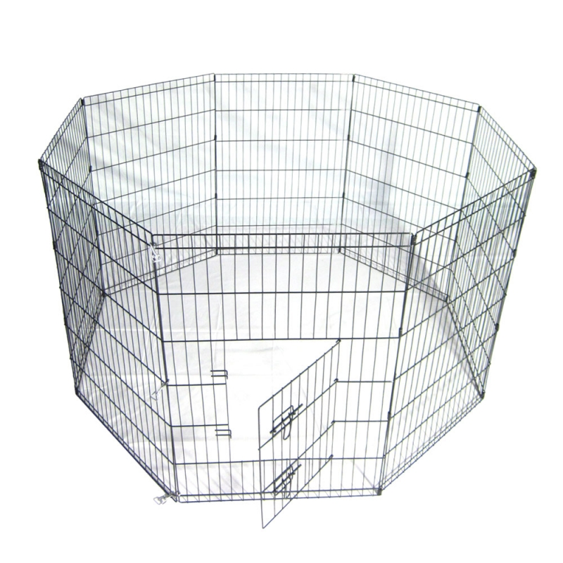 36-Tall-Wire-Fence-Pet-Dog-Cat-Folding-Exercise-Yard-8-Panel-Metal-Play-Pen-Black_800x800