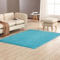 Shaggy Carpet For Living Room Home Warm Plush Floor Rugs fluffy Mats Kids Room Faux Fur Living Room Mats Silky Rugs