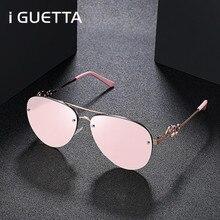 iGUETTA Brand Designer Sunglasses Women 2019 High Quality Round Retro Sunglass Alloy UV400 IYJB521
