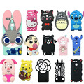 3D Cute Cartoon Soft Silicone Mobile Phone Bags Case Cover For Huawei P9 Rabbit Minnie Hello kitty Bear Case for Huawei P9 Lite