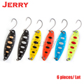 Jerry 5 piezas 3,3G 5g pesca artificial señuelos ligero trolling cucharas para trucha perca metal spinner cebo