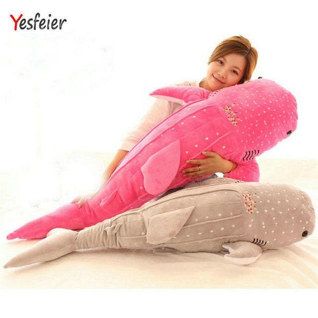 50-120 cm Azul/rosa/cinza tamanho grande Brinquedos de Pelúcia Tubarão Baleia Peixe Grande boneca de Pano recheado animais de pelúcia boneca de Presente de Aniversário Das Crianças