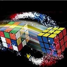 Флеш-куб восстановление, восстановление мгновенного кубика-магический трюк, сцена, крупным планом магический реквизит, аксессуары, комедия, улица