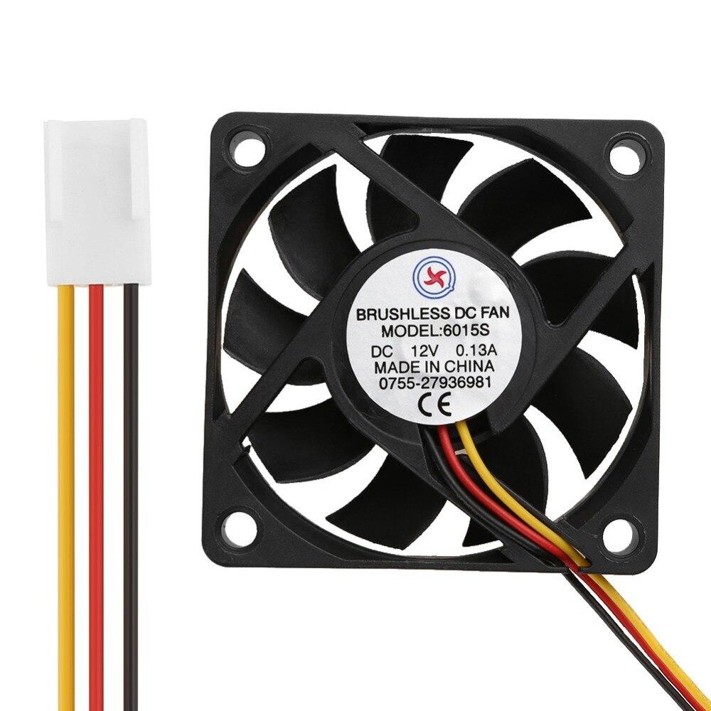 Dc 12v 0 13a Low Noise Computer Cooler Fan 60x60x15mm