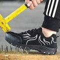 Защитная обувь европейского размера плюс 48 со стальным носком Летняя дышащая легкая устойчивая к разбиванию повседневная обувь
