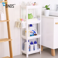 BNBS Household Kitchen/Bathroom Multipurpose Storage Holder Racks Multi Layer Refrigerator Side Shelf Holder Organizer
