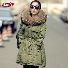 Winter Jacket Women Fashion Brand Big Raccoon Fur Collar Hood