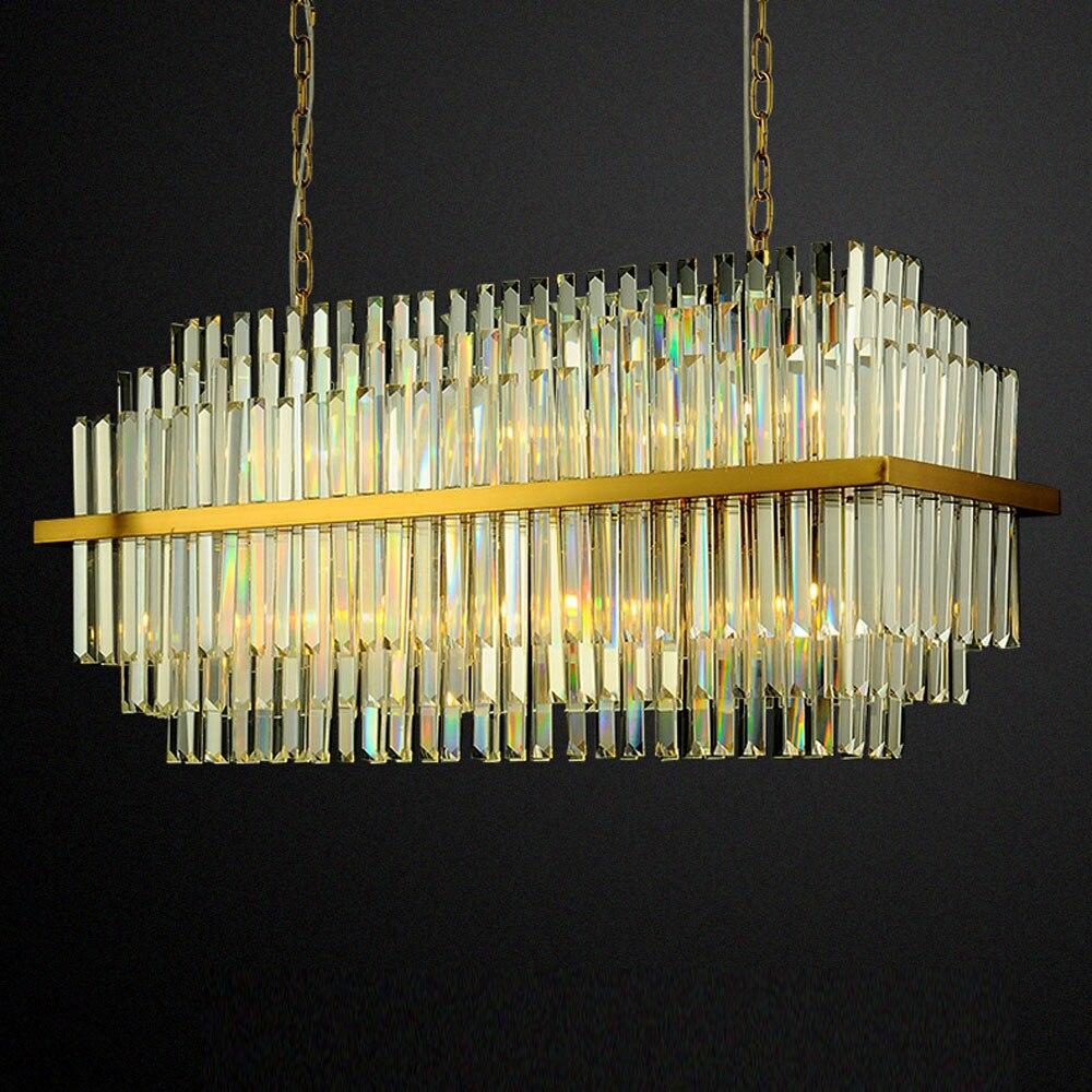 Design de luxo moderno lving quarto lustre de cristal de iluminação kroonluchter AC110V 220 v brilho ouro luzes da sala de jantar