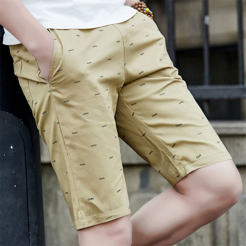 2018 Brand Summer Casual Cotton Skinny shorts men gyms fitness Breathable male shorts plus size Solid Khaki Beach short pants