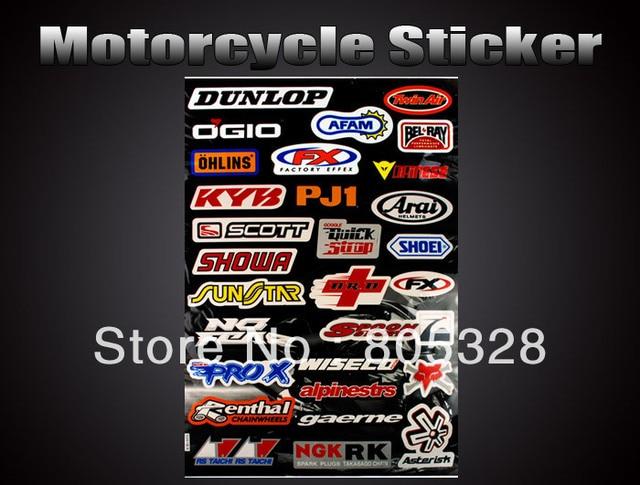 Hot ! Wholesale 5pcs /set Speed Racer Combination Logo Sport Motorcycle Sticker Car Decal