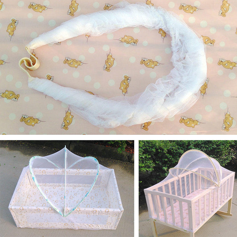 Baby Bed Mosquito Insect Net Tent Bedding Infant Folding Cradle Crib Cot Netting Mesh Net Baby Crip Tent