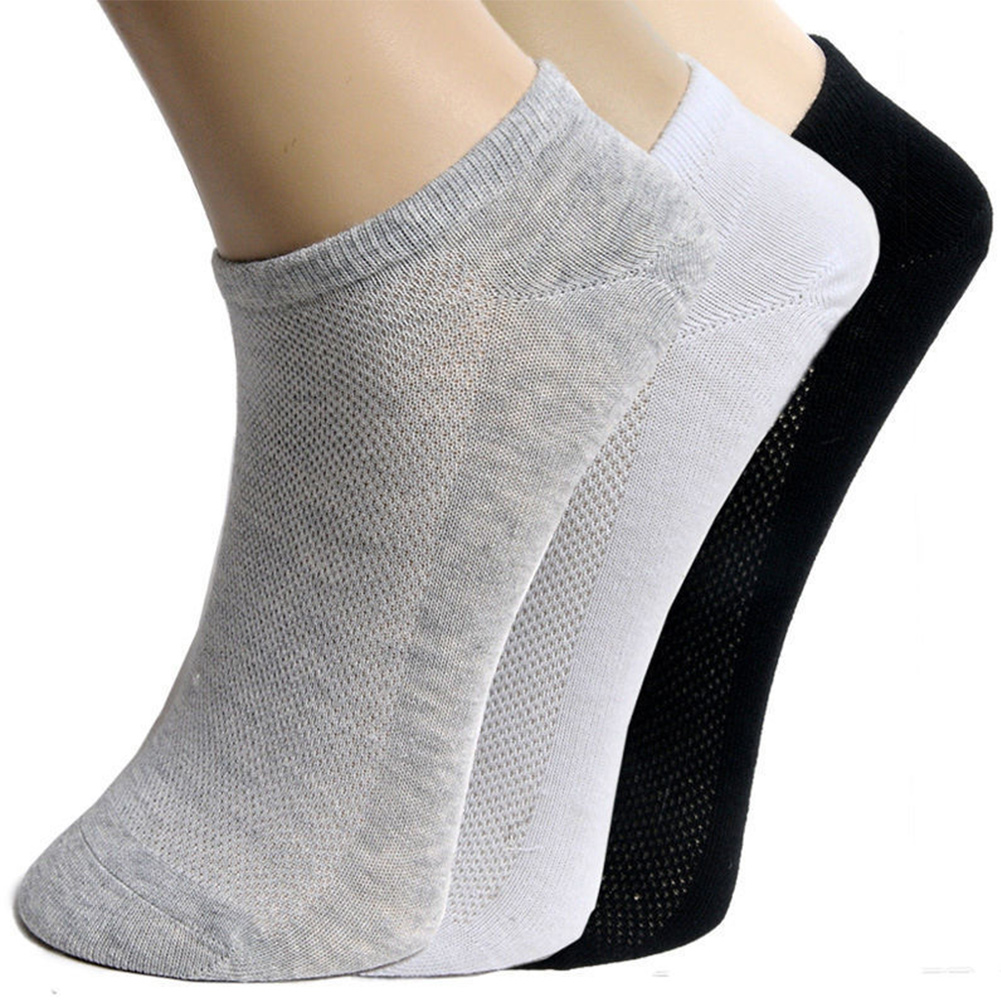 5Pair OR 1Pair Solid Mesh Men's Socks Soft Breathable Invisible Ankle Men Summer Sports Socks Thin Male Boat Socks Cotton Blend