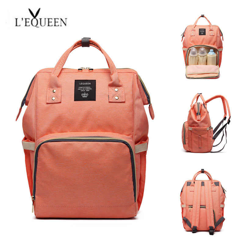 Lequeen Large Capacity Mummy Bag Multi-function Backpack Baby Diaper Bag Waterproof Nappy Bag maternity Pregnant Woman Wet Bag