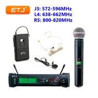 SLX24 BETA58A Professional Wireless Microphone SLX14 SLX Karaoke Handheld Headset Clip Mic Belt Pack Transmitter Microphones
