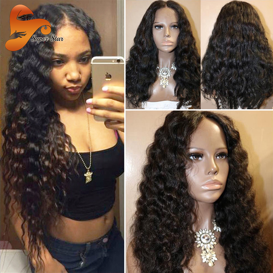 Glueless Full Lace Human Hair Wigs With Baby Hair Virgin Hair Lace Front Wig Deep Wave Brazilian Full Lace Wigs For Black Women