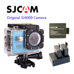 Free shipping!!Original SJCAM SJ4000 Full HD 1080P Waterproof Action Camera Sport DVR+Extra 1pcs Battery+Dual Battery Charger