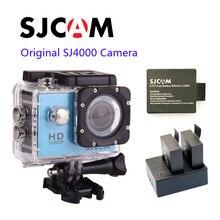 Envío libre!! Original SJCAM SJ4000 FULL HD 1080 P Acción Cámara Impermeable Del Deporte DVR + Extra 1 unids batería + Cargador de Batería Dual