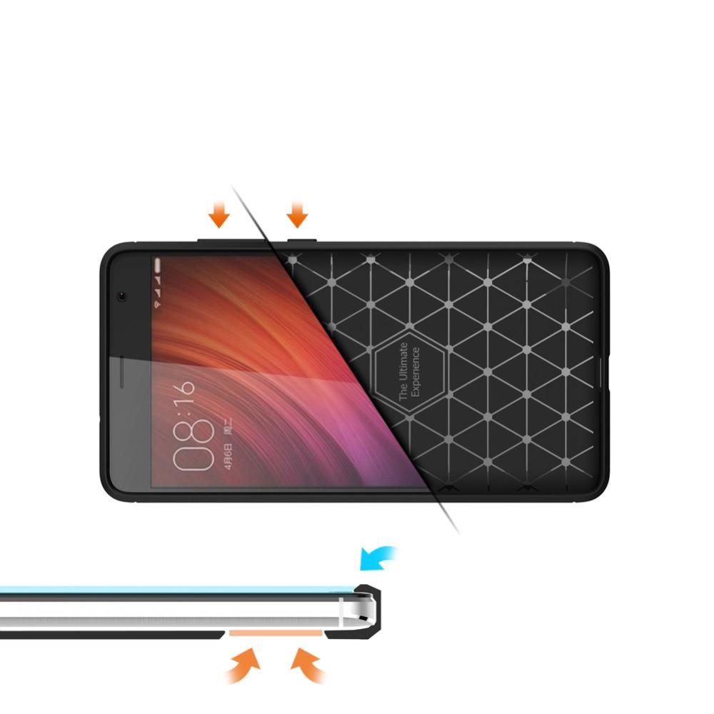 Carbon Fiber Flexible TPU Case for Xiaomi Redmi Pro Phone Case, ShockProof Anti-Slip Slim Protective Back Cover