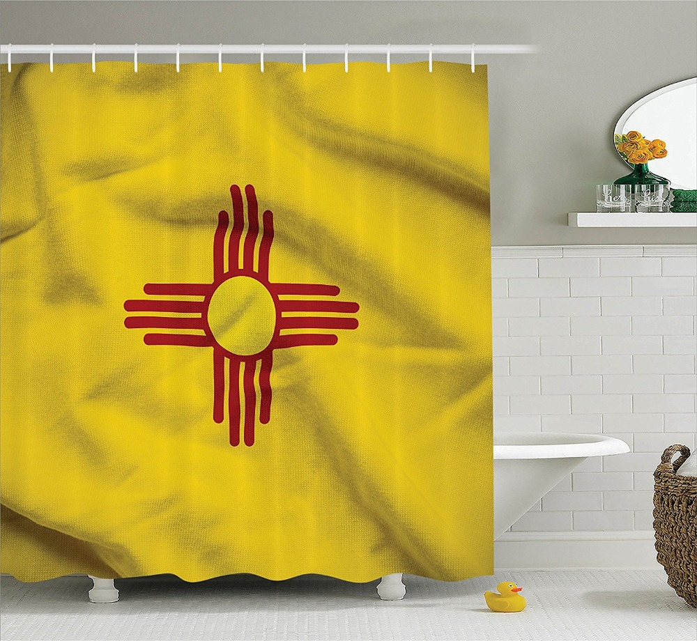 New Mexico Of United States Flag Sun Symbol Of The Zia On A Field
