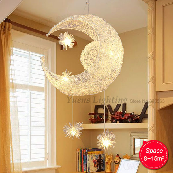 New Novelty Kid Children Room Light Lamp Modern Pendant Lighting - Star lights in bedroom