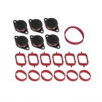 6X33mm for BMW M57 Swirl Blanks Flaps Repair Delete Kit with Intake Gaskets