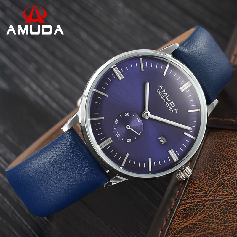 New AMUDA Brand Luxury Casual Watches Men Analog Business Watch Male Quartz Wristwatches Relogio Masculino Montre Homme