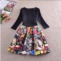 Vestido com estampa da moda primavera esbelto tamanho extra uma peça mini vestido feminino coleção 2014