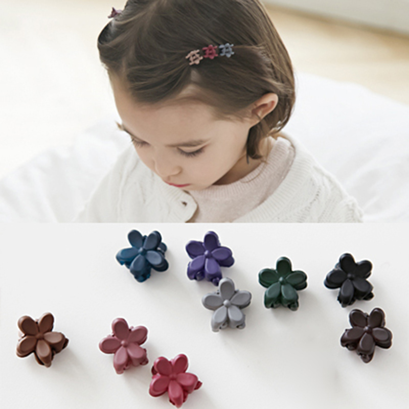 10 PCS Little Cute Flowers Candy Colors Plastic Hair Clips Claws for Girls Kids Children Hairgrip Headwear Hair Accessories haimeikang large size plastic hairpins candy color hair clip shiny crab hair claws for women girl hair clips hair accessories