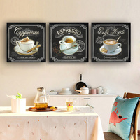 Кухонные винтажные кофейные постеры и принты, Картина на холсте, Скандинавское украшение, скандинавский стиль, кухня, детская комната, бары-...