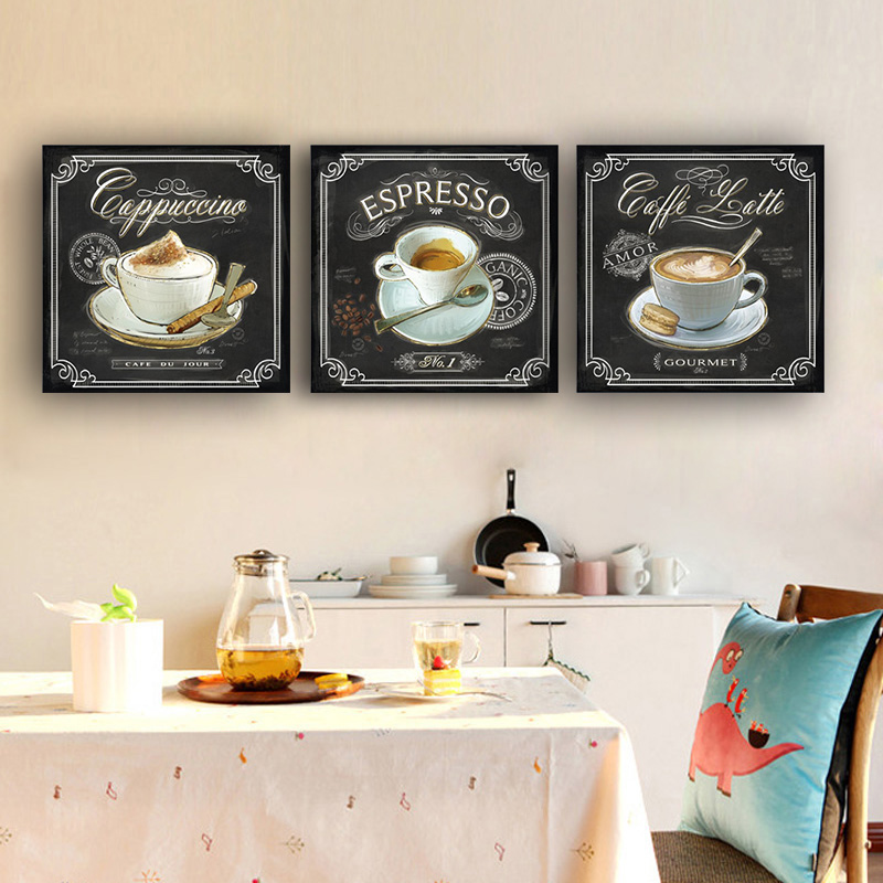 Kitchen Vintage Coffee Posters And Prints Canvas Painting Scandinavian Adornment Nordic Style Kitchen Kids Room Bars Cafe Decor