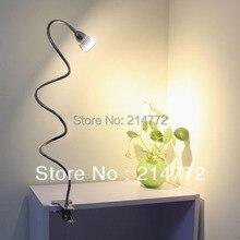 3ワットハイパワーledデスクランプクリップテーブルランプ読書ライト用ベッド送料無料、ac90-260v Jiawen