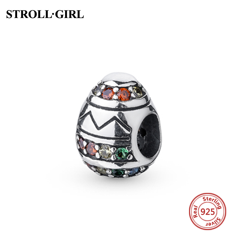 2018 New Arrival Color CZ Beads Charm Fit pandora charms Real 925 Sterling silver Fashion Jewelry Making for Love Gifts