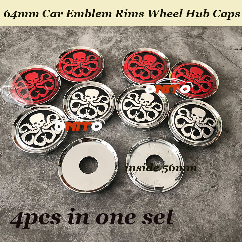 Modified 4pcs 64mm <font><b>Car</b></font> emblem Rims Wheels hub center caps For Octopus <font><b>logo</b></font> 56mm <font><b>stickers</b></font> For Volvo bmw opel jeep opel and so on image