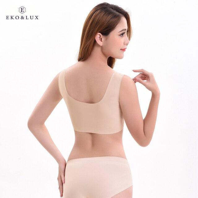 ebd9b6fd59 EKO LUX Women s Seamless Bra Removable Padded Sleep Bra Comfort Bralette  U-back Pullover Wire Free