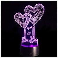 Lumière de nuit LED Tactile Table Bureau Lampe 7 Couleurs Changeantes Optique Illusion Lumières avec Acrylique Plat ABS Base USB Chargeur pour enfant