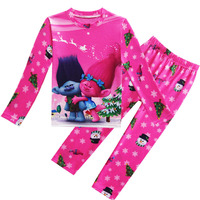 Trolls Magic Elf Christmas Two Piece Set Of Girls Pajamas Home Set Pajamas Set S059