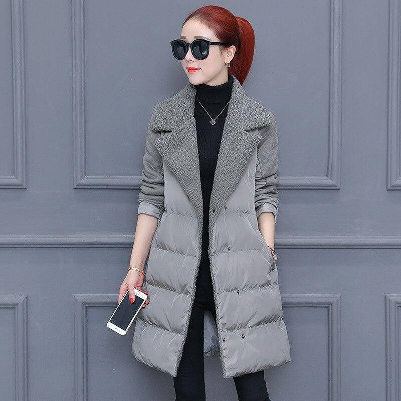 Fourrure Chaud Manteau Desgin Manteaux gris Swyivy Femmes Hiver Coton Vestes Occasionnel Nouvelle De Long 2018 rose Veste Mince Parkas Solide Noir Femelle ZwA00ITf