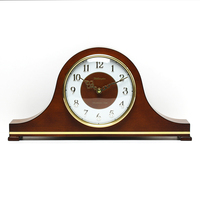Weilingdun Music Hourly Chiming High Quality Table Clock Europe Antique Wooden Mute Quartz Desktop Clock T20211